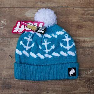 Neff Women's Winter Pom Hat Boat Anchor Design